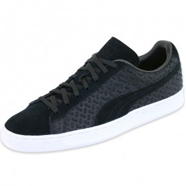 Chaussures SUEDE CLASSIC EMBOSS Noir Homme Puma