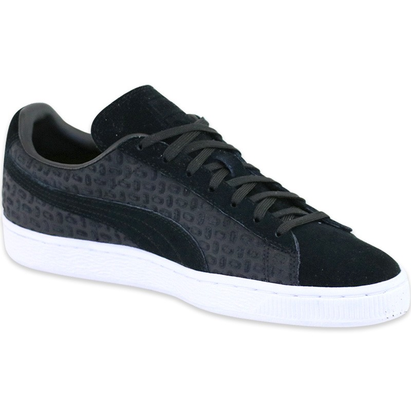 chaussures suede classic emboss noir homme puma baskets. Black Bedroom Furniture Sets. Home Design Ideas