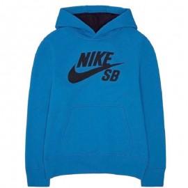 Sweat à capuche Logo Fleece Bleu Garçon Nike