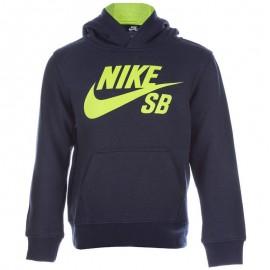 Sweat à capuche Logo Fleece Marine Garçon Nike