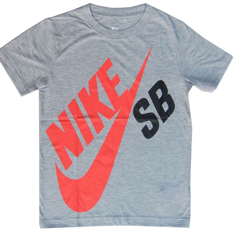 tee shirt big logo gris gar on nike t shirts. Black Bedroom Furniture Sets. Home Design Ideas