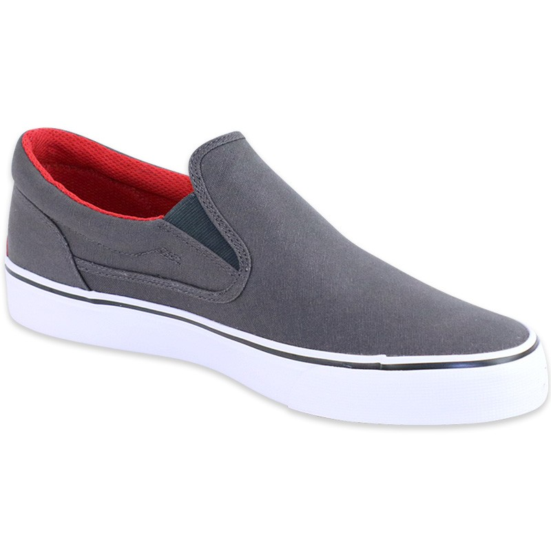 chaussures trase slip6on gris homme dc shoes baskets. Black Bedroom Furniture Sets. Home Design Ideas