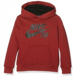 Sweat à capuche Logo Fleece Bordeaux  Garçon Nike
