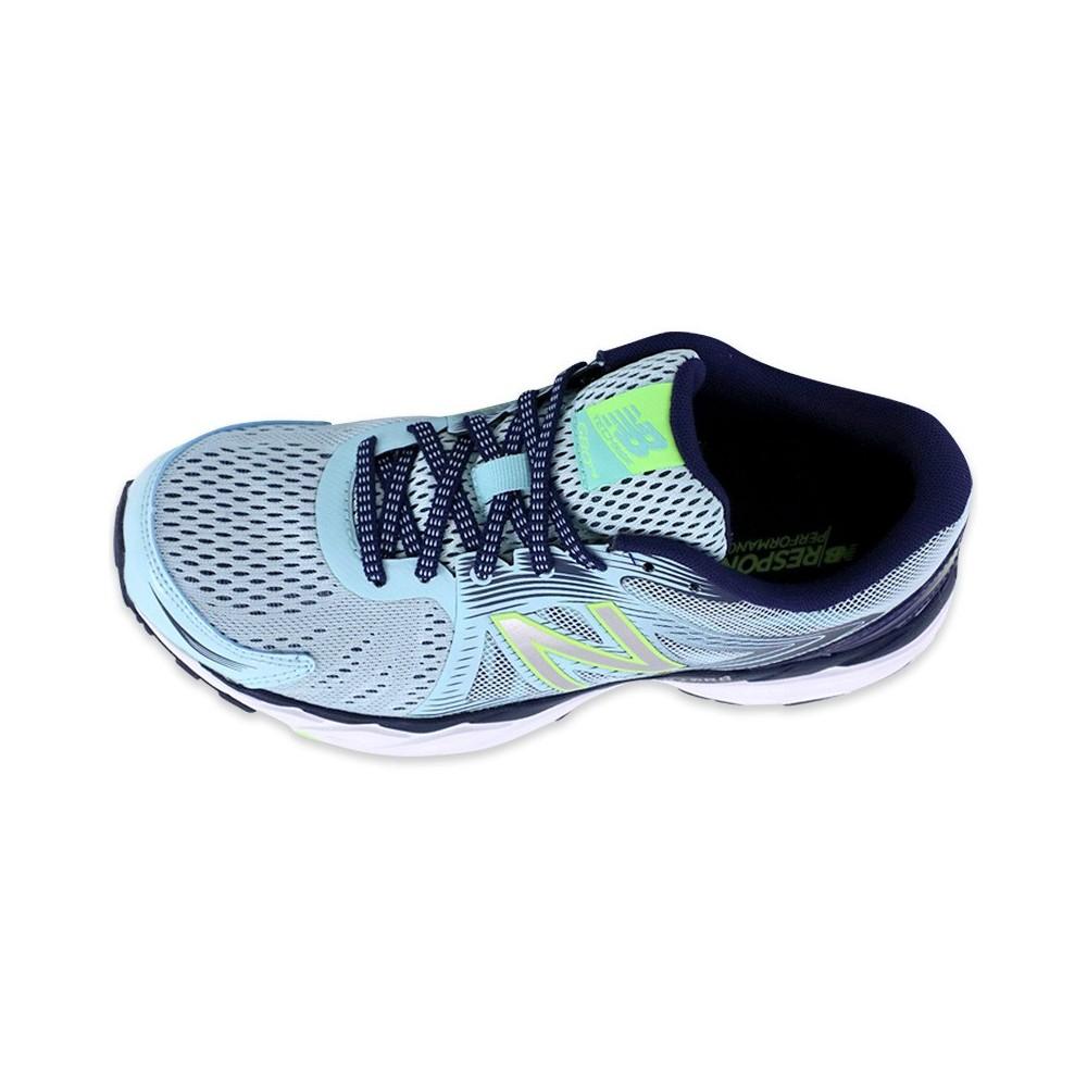 Détails sur Chaussures W680 Bleu Running Femme New Balance Bleu