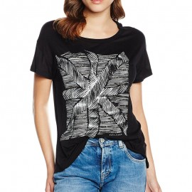 Tee-shirt GINA Noir Femme Pépé Jeans