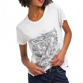 Tee-shirt GINA Ecru Femme Pépé Jeans