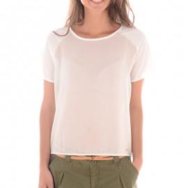Tee-shirt SESSA Blanc Femme Pépé Jeans