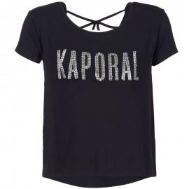 Tee-shirt NIZA Noir Femme Kaporal