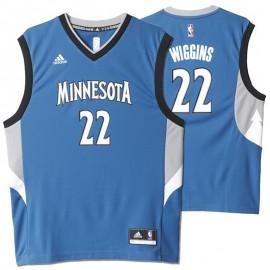 Maillot Replica Minnesota Andrew Christian Wiggins Bleu Basketball Homme Adidas
