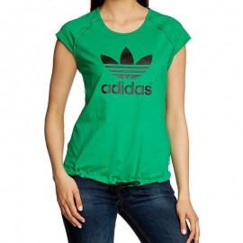 Tee Shirt Damen Logo Vert Femme Adidas
