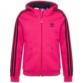 Veste à capuche Teddy Fur Rose Fille Adidas