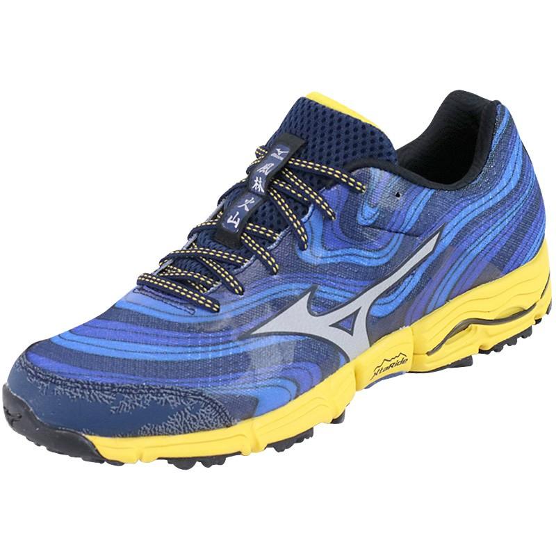 chaussures wave kazan bleu running trail homme mizuno chaussures. Black Bedroom Furniture Sets. Home Design Ideas