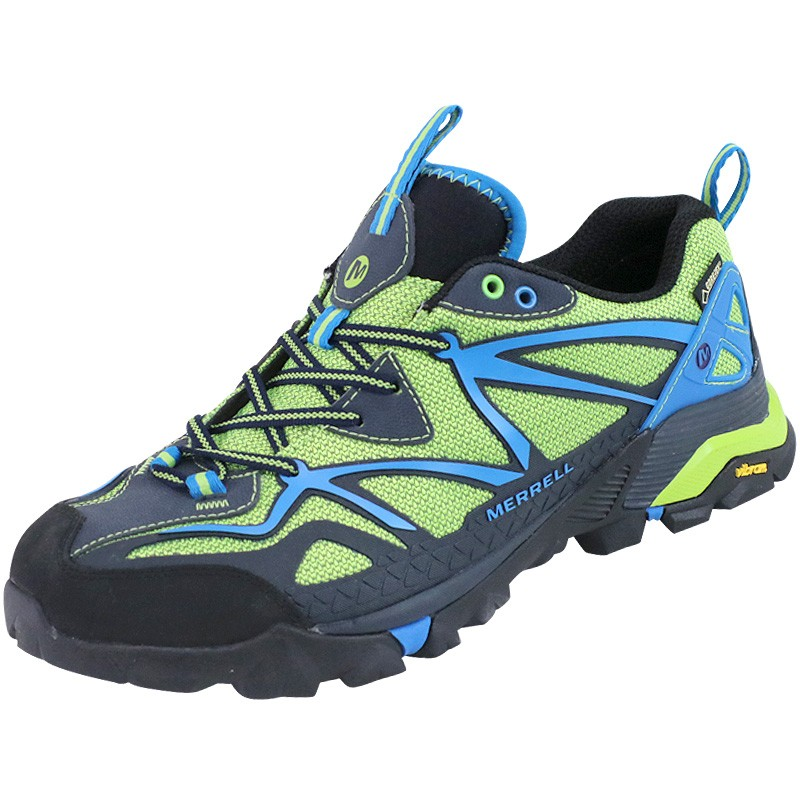 2e047b573e4 Chaussures Capra Sport GTX Vert Randonnée Homme Merrell - Chaussure...