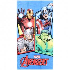 Serviette de Plage Avengers Bleu Managal