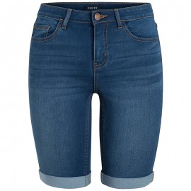Short Jean Five Betty Long Bleu Femme Pieces
