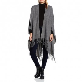 Poncho Raelyn Gris Femme Pieces