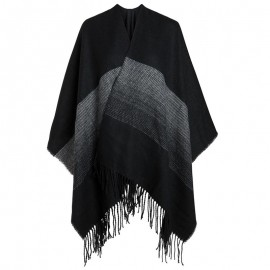 Poncho Povline Noir Femme Pieces