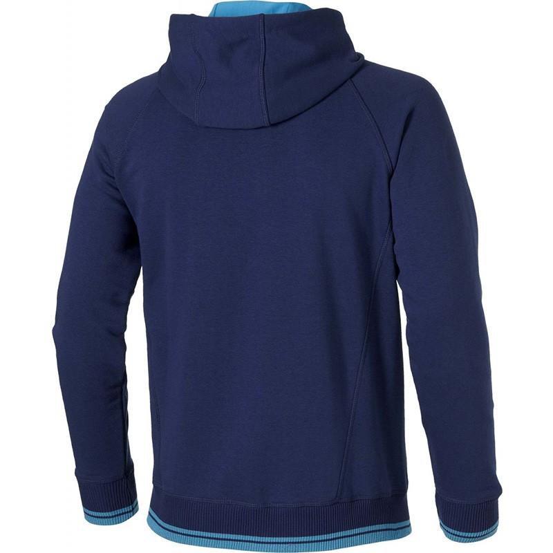 veste logo full zip bleu running homme asics vestes. Black Bedroom Furniture Sets. Home Design Ideas