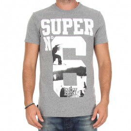 Tee Shirt N° 6 Photgraphic Gris Homme Superdry