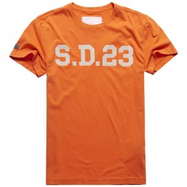 Tee Shirt Solo Sport Orange Homme Superdry