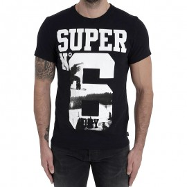 Tee Shirt N° 6 Photographic Noir Homme Superdry