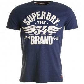 Tee Shirt 54 Brand Cold Dye Bleu Homme Superdry