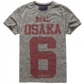Tee Shirt Real Osaka 6 Gris Homme Superdry
