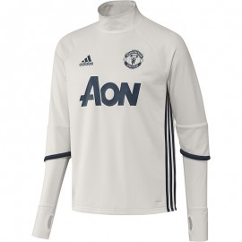 Sweat Entrainement Manchester United Blanc Football Homme Adidas