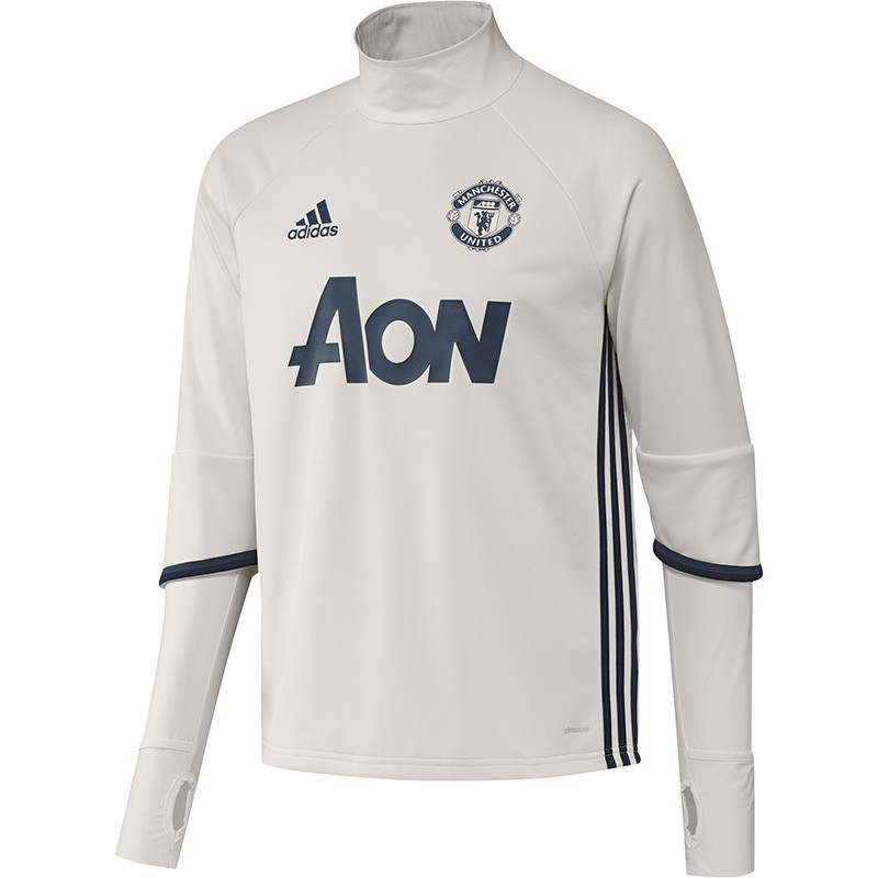 Manchester Homme Blanc Sweat Adidas Football Entrainement United P7Zxwxq86