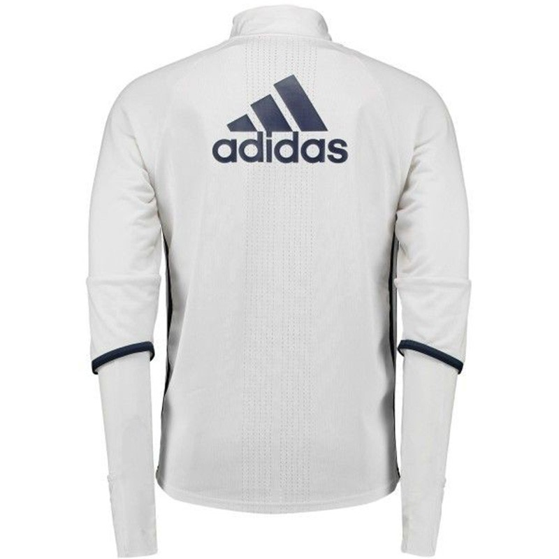 sweat entrainement manchester united blanc football homme adidas. Black Bedroom Furniture Sets. Home Design Ideas
