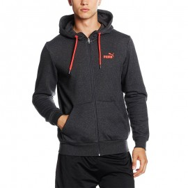 Sweat Rebel Full Zip Gris Homme Puma