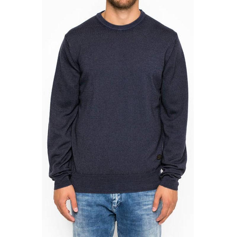 Pull en Laine Quinton Marine Homme Pépé Jeans