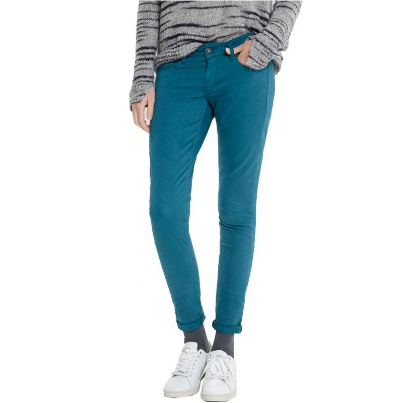 Pantalon Chino Slim SOHO Femme Vert Pépé Jeans - Pantalons f50904cf5efa