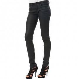 Jean Enduit Slim NEW BROOKE Longueur 30 Noir Femme Pépé Jeans