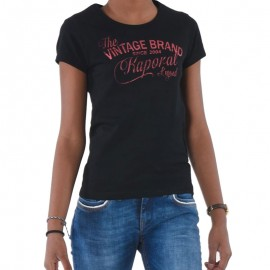 Tee shirt BABEL Noir Fille Kaporal
