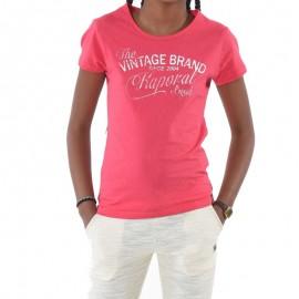 Tee shirt BABEL Rose Fille Kaporal
