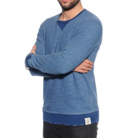 Sweat Brookfield Bleu Homme Pépé Jeans