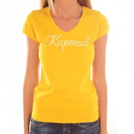 Tee-shirt NIAM Jaune Femme Kaporal