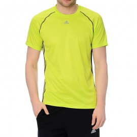 Tee-shirt Micro-perforé BASE 3S Entrainement Vert Homme Adidas