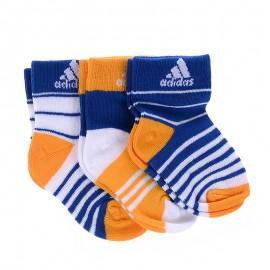 Chaussettes Stripy Ankle 3P Bleu Garçon Adidas