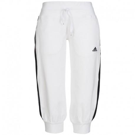 af54bf1a311b1 Blanc Entrainement 3s Pantalon Pantacourts Adidas Ess 34 Femme qO6a7