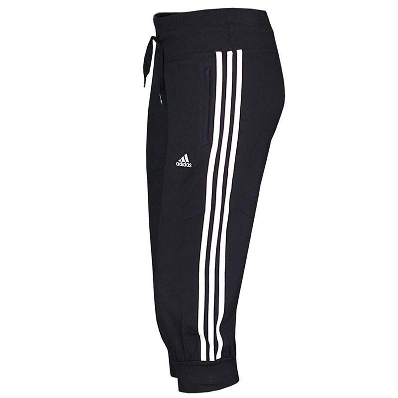 Pantalon 34 ESS 3S Noir Entrainement Femme Adidas Pantacourts