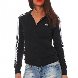 Veste à capuche ESS 3S HOOD Noir Entrainement Femme Adidas