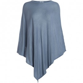 Poncho TRIKKI Bleu Femme Pieces