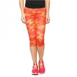 Collant Running PRINTED Orange Femme Reebok