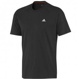 Tee Shirt Gris Essentials 3 Stripes Crew Entrainement Homme