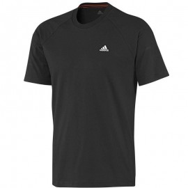 Tee Shirt Essentials Crew Gris Entrainement Homme Adidas
