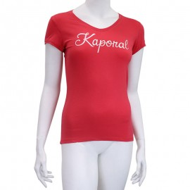 Tee-shirt NIAM Rouge Femme Kaporal