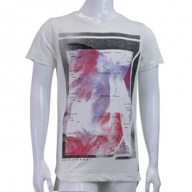 Tee-shirt BROKEN Ecru Garçon Garcia jeans