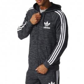 Sweat à Capuche CLFN Gris Homme Adidas